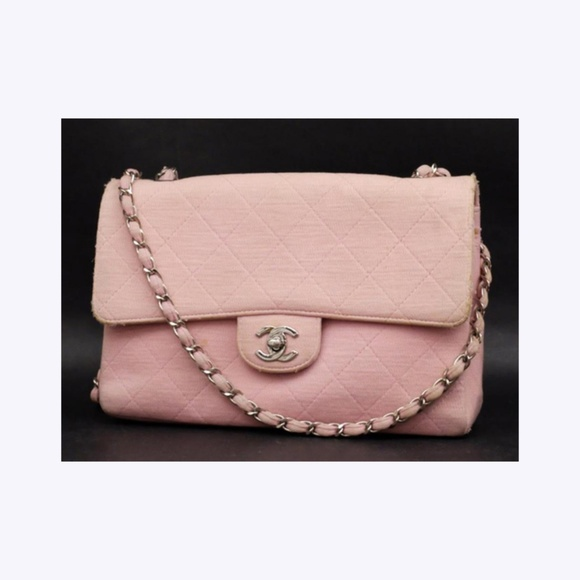 d64004625a4b Chanel Bags | Pink Silver Quilted Jersey Classic Flap 232361 | Poshmark